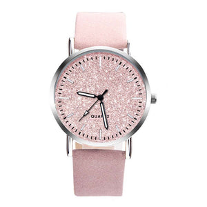 Nuba Glitter Cocktail Leather Strap Watch - Ferosh