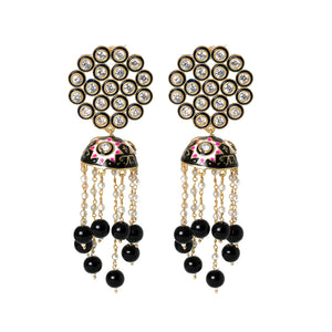 Ferosh Black Meenakari Ethnic Jhumka For Women - Drop Earrings Online