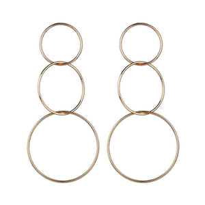 Olexa Intertwined Loop Silver Street Smart Earrings - Ferosh