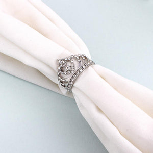 Princess Crown Silver Diamond Ring - Ferosh