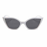 Petra Eye-lashed Cat-Eye White Sunglasses - Ferosh