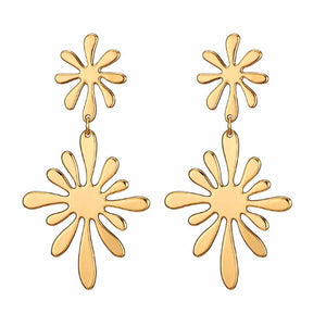 Ferosh Pacifica Golden Artistic Drop Earrings
