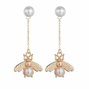 Ferosh Papillon Golden Fly Drop Earrings