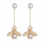 Papillon Golden Fly Drop Earrings - Ferosh