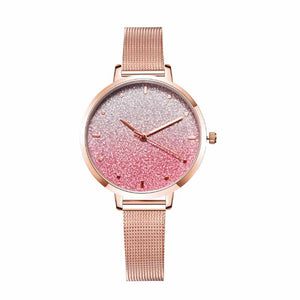 Ferosh Pippa Sparkle Pink Rose Golden Watch
