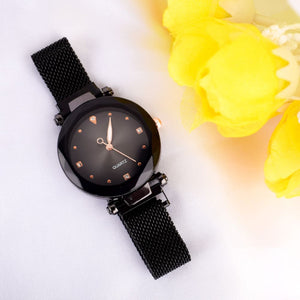 Ricarda Black Magnetic Strap Queen Watch - Ferosh