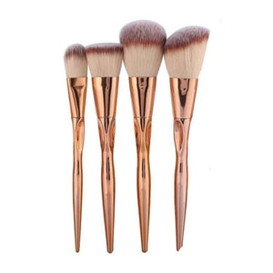 Russet 4 pcs Brown Face Metallic Brush Set - Ferosh