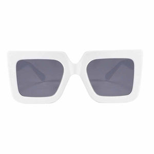 Ralph Oversized White Grey Sunglasses - Ferosh