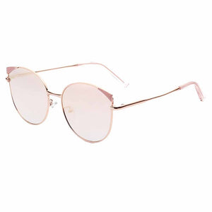 Roxana Mirrored Pink Cat-Eyed Aviators - Ferosh