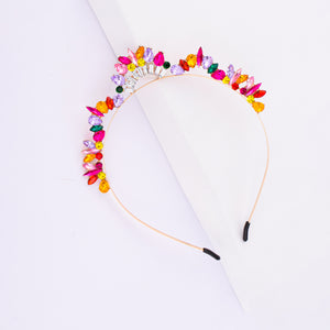 Soraya Bright Colourful Tiara Hair Band - Ferosh