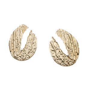 Ferosh Stellan Crepe Golden Statement Earrings