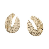 Stellan Crepe Golden Statement Earrings - Ferosh