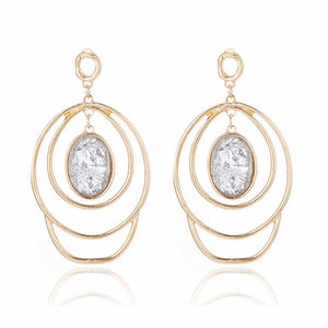 Ferosh Stone Charm Layered Hoop Earrings