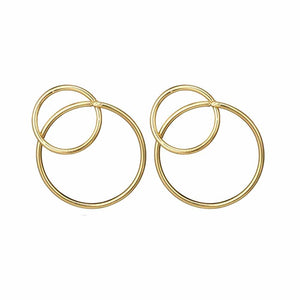 Senna Dual Loop Golden Earrings - Ferosh