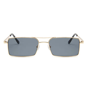 Shannon Grey Rectangular Gold Sunglasses - Ferosh