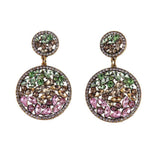 Ferosh Siara Multi-Coloured Crystal Drop Earrings