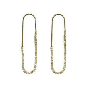 Stina pin Golden Diamond Earrings