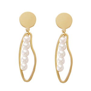 Ferosh Golden Drop Earrings For Women - Dangler Earrings Online