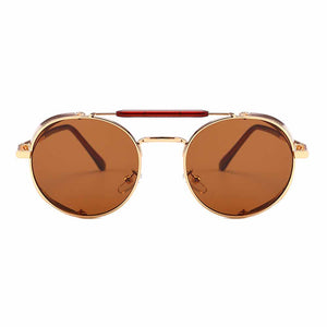 Ferosh Throwback Brown Telescopic Golden Aviators