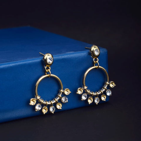 Treslyn Golden Ring Drop Earrings - Ferosh
