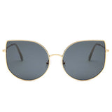 Kiki Cat-Eye Golden-Black Golden Aviators - Ferosh