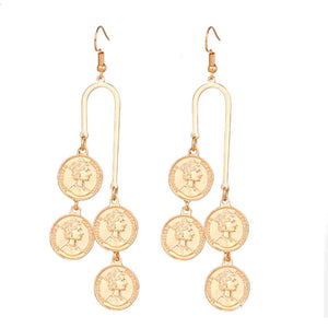 Ferosh Victoria Golden Paisley Chandelier Earrings