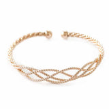 Vincent Twist and Turn Golden Bangle Bracelet - Ferosh