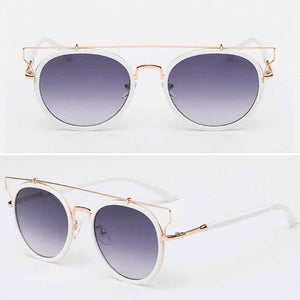 Vanessa White Golden Tinted Sunglasses - Ferosh