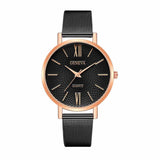 Zest Black RoseGold Metal Strap Formal Watch - Ferosh