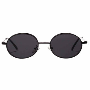 Zia All-Black Round Sunglasses - Ferosh