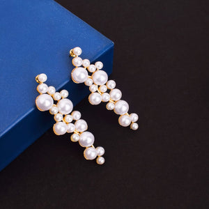 Ferosh Pearls Drop Earrings For Women - Earrings Online