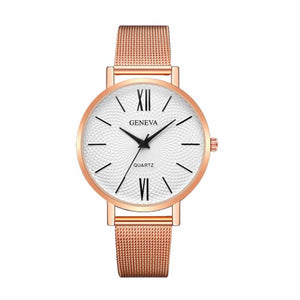 Zest RoseGold Metal Strap Formal Watch - Ferosh