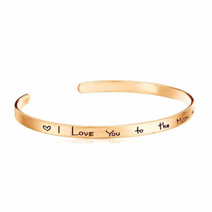 Ferosh I Love You too The Moon And Back Cuff