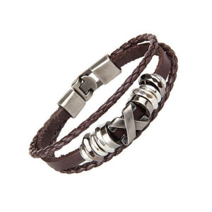 Ferosh Bracelet Cross Leather Bracelet