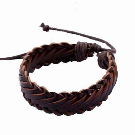 Stilig  Brown Braided Wristband - Ferosh