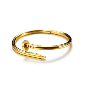 Gold Nail Bangle - Ferosh