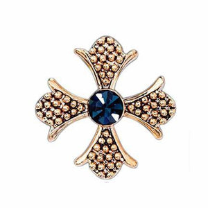 Ferosh Brooches & Lapel pins Sapphire Cross Brooch