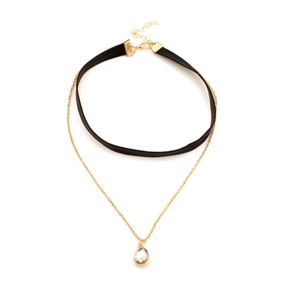 Ferosh Choker Leather Layered Choker