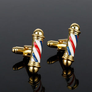 Barber pole cufflinks - Ferosh