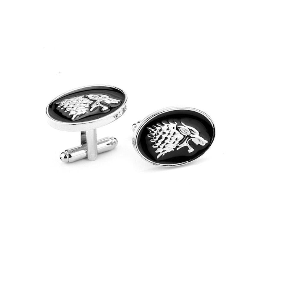 Ferosh Cufflinks House Stark Wolf Cuff Links