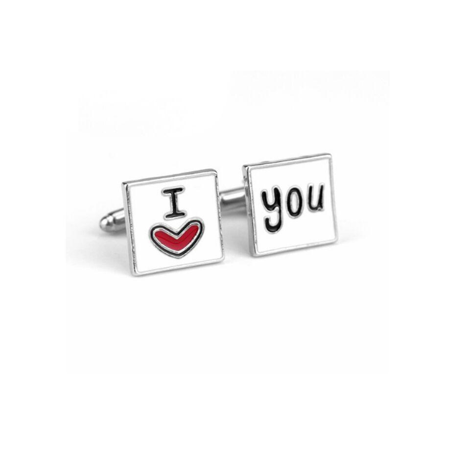 Ferosh Cufflinks I Love You Cufflinks