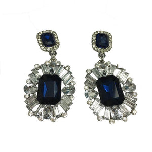 Blue Stone Earrings - Ferosh