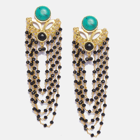 Designer Gohar Golden Earrings - Ferosh