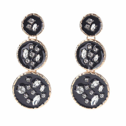 Designer Zwart Drop Earrings - Ferosh
