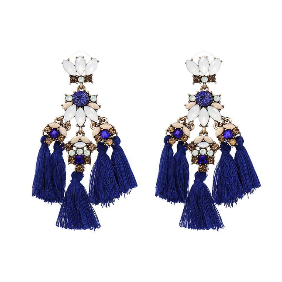 Ferosh Earrings Electric Blue Chandeliers