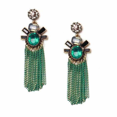 Fancy Tassel Earrings - Ferosh