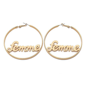 Femme Hoop Earrings - Ferosh
