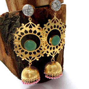 Fiorello Drop Jhumki Earrings - Ferosh
