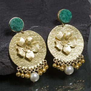 Floral Motif's Drop Earrings - Ferosh