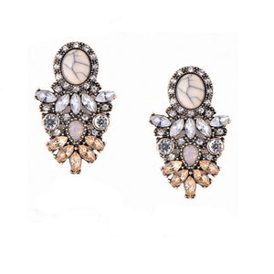 Glam Crystal Earrings - Ferosh